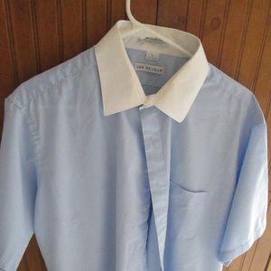 Van Heusen Blue Short Sleeve Men's Shirt